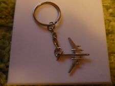 Tupolev TU-95 Bear c71 Aircraft English Pewter Emblem on a Split Ring Keyring