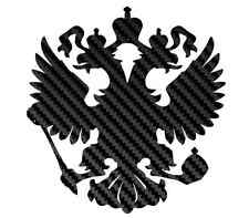 carbon fiber russian gerb sticker decal nakleika russia eagle flag country new