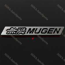 3D Car Trunk Emblem Badge Sticker Decal MUGEN Black for HONDA CIVIC - Aluminum