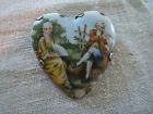 Vintage Victorian Style Heart Shaped Brooch with Colonial Man & Woman 39146