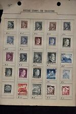 Used hinge stamps Adolph Hitler Nazi Germany Third Reich Issues