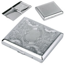 Cigarette Cigar Case Light Aluminum Pocket Box Container Storage Silver Holder