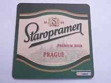 Beer Coaster ~ Staropramen Breweries Premium ~  ~ Prague, Czech Republic Brewery