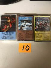 (3) NEW SEALED Assorted Christmas Music Cassette Tapes  (G) (10)