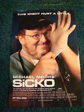 SICKO - MOVIE POSTER WITH MICHAEL MOORE