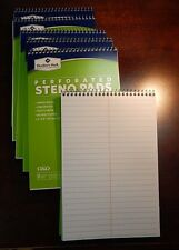 """Members Mark Perforated Steno Pad 6"""" x 9"""" White Personal Note Taking Made in USA"""