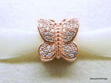 NEW!! AUTHENTIC PANDORA ROSE COLLECTION SPARKLING BUTTERFLY #781257CZ HINGED BOX