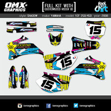 YAMAHA YZF 250 YZF 450 4-stroke decals graphics stickers kit 2008 SH CMYK