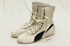 PUMA ESKIVA HI Rihanna Sneakers Classic Boxing Design Off  Cream & Black SZ 9.5