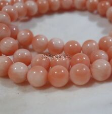 "Natural Australian Reef Coral Bead Strand Angelskin Peach Pink 6 MM 16"" (1)"