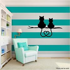 CAT LOVERS Vinyl Wall Art quote Home Family Decor Decal Word Phrase Black