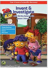 Sid the Science Kid: Invent & Investigate Season 1 Volume 3 DVD (2016) NEW