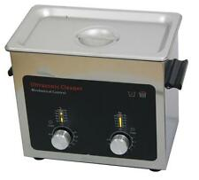 Ultrasonic Cleaner with Stainless Steel Tank, Heater/Timer, 3.0L/0.79Gallon Tank