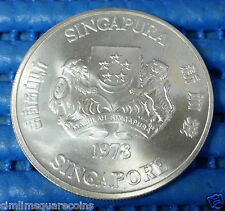 1978 Singapore Communication Satellite Earth Station $10 1 oz (50%) Silver Coin