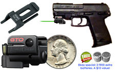 ArmaLaser GTO GREEN Laser Sight w/GG&G Rail Adapter for H&K USP Compact Pistols