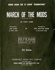 MARCH OF THE MODS - KOMMOTION TV SHOW THEME - VINTAGE SHEET MUSIC AUSTRALIA RARE