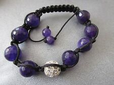 Purple Shamballa Faceted 12mm Bracelet 1pc