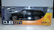 Jada Toys DUB City Big Ballers 1 18 GMC Yukon Denali Black Model Car In Box