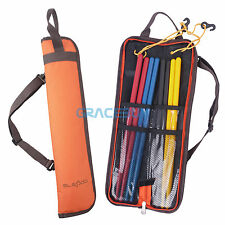 Baquetas bolso Waterproof Drum Sticks Holder Bag Portable Drumsticks Case Orange