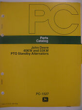 John Deere 40KW 55KW PTO Standby Alternator Generator Parts Catalog Manual