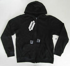 Men's Sweatshirt Colorfast Apparel 'Active Audio' Zip Hood Black S NWT $78