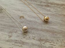 Yellow Gold Filled Necklace Ball Necklace minimalist Necklace Length 17""