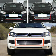 Metal Front Grill Grille with Radar hole for Volkswagen Touareg V6 2011-2013
