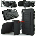 New Combo Armor Case Cover with Belt Clip Holster Shell For Iphone 4 4s Black