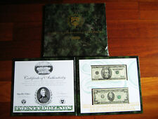 $20 1996/1995 Premium Historical Portfolio Federal Reserve Choice Unc Bu Note