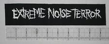 Extreme Noise Terror Patch - Crust Punk Grindcore Wormrot Agoraphobic Nosebleed