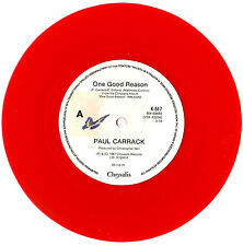 "PAUL CARRACK - ONE GOOD REASON / ALL YOUR LOVE IS IN VAIN - RED 7""45 RECORD 1987"