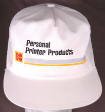 Vtg KODAK Personal Printer Products Trucker Hat-Snapback-Mesh-White-Photo Film..