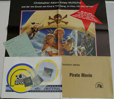 PIRATE MOVIE FILMPLAKAT WERBERATSCHLAG 3 DIA-POSITIVE KRISTY MCNICHOL (k2)