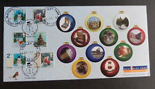 GB 2006 Christmas FDC double dated Edinburgh Bletchley Park Views Turing