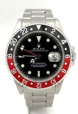 ROLEX OYSTER PERPETUAL DATE GMT MASTER II STEEL BLACK RED COKE WATCH 16710