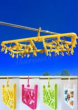 Foldable Clip and Drip Hanger/54 Clips Laundry Socks Clothes Drying Hanger Rack