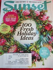 SUNSET MAGAZINE DECEMBER 2014 HOLIDAY IDEAS PARTY FOOD GIFTS FAMILY SKI TRIPS