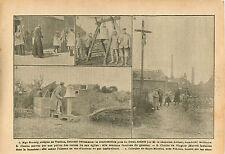 Mgr Ginisty Evêque de Verdun Cloche Eglise Poilus Calvaire WWI 1916 ILLUSTRATION