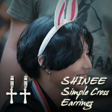 SHINEE Simple Cross Earrings Kpop Style Made In Korea Hot Item 1Pair