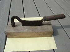 Vintage Chicken Chopper Tobacco Cutter ? Hinged Cleaver Antique ? Chopping Block