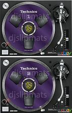 COPPIA (2) Ltd. ed TECHNICS Japan Mulinello a bobina rs-1700 DJ FELTRO SLIPMAT Viola