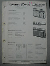 Philips 22 RL496 Kofferradio Taifun de luxe, Ascona Service Manual Ausgabe 11/69