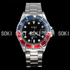 New SOKI Classic Value Day Analog Mechanical Automatic Mens Wrist Band Watch S84