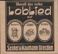 Dresda, Pubblicità 1910, Naumann & Seidel ideale-Germania cuci-SCRITTURA MACCHINA RUOTA