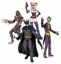 ARKHAM ASYLUM  HARLEY JOKER  BATMAN SCARECROW ACTION FIGURE 4 PACK