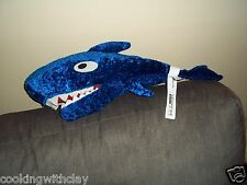 IKEA PLUSH DOLL FIGURE KORALL HAJ SWEDISH NOVELTY BLUE BIG MOUTH SHARK TOY