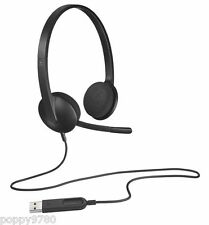 NEW Logitech Stereo Computer Headset H340 Noise Cancellation 981-000507 Black