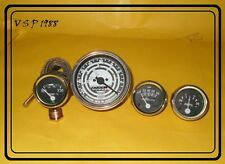 FORD TRACTOR TACHOMETER AMMETER OIL PRESSURE TEMPERATURE GAUGE SET