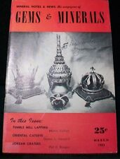 OCL - 1950'S GEMS & MINERALS  MAGAZINES - 40+ DIFFERENT ISSUES - SEE DESCRIPTION