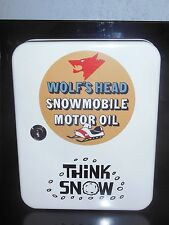 WOLF HEAD OIL SNOWMOBILE 1960S ERA DEALERSHIP SERVICE COUNTER 48 PLACE KEYBOX